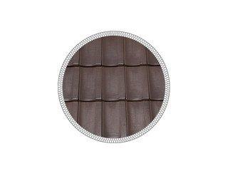 Керамическая черепица рядовая MLADOST KONTINENTAL LUX brown