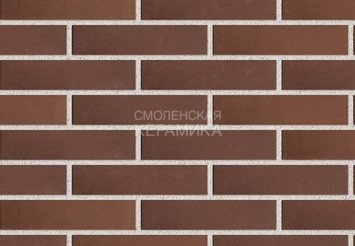 Кирпич лицевой керамический ЛСР Коричневый гладкий, 1НФ 1