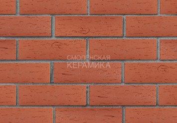 Клинкер фасадный ЛСР «Лондон» красный береста 3
