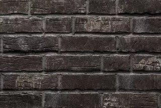 Клинкерная плитка фасадная Stroher 376 platinschwarz 14 мм