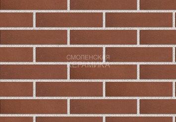 Клинкер фасадный ЛСР «Эдинбург» темно-красный гладкий 1