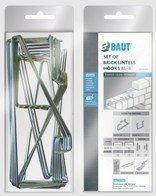 Кирпичные перемычки проем до 1,5 м BAUT Блистер-Комплект оцинкованных хомутов SKK 65 для кладки на