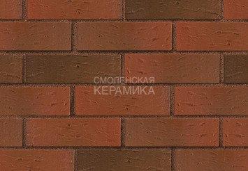 Кирпич лицевой керамический ЛСР Красный флэш рустик, 1НФ 3