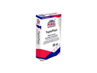 Легкая перлитовая гипсовая штукатурка Perel TeploPlast 0529 белая, 30 кг (ручное нанесение)