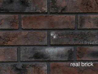 REAL BRICK. Кирпич ручной формовки RB КР/0,5ПФ угловой RB 09 черный магнезит
