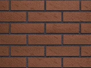 Клинкерная плитка фасадная Röben BRAUN коричневая рифленая NF9