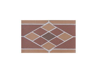 Подступенник мозаичный из клинкера (на сетке) Rhomb/Ромб Ecoclinker
