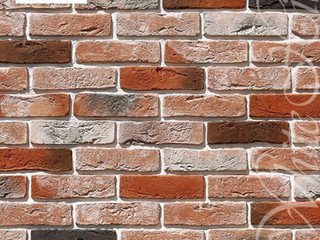 "301-50 White Hills ""Лондон брик"" (London brick), оранжевый, угловой, Нормативная ширина шва 1,2 см."