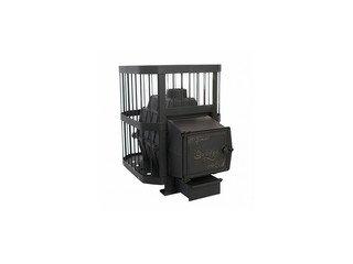 Печь банная чугунная НМК СИБИРЬ-21 дв. ДТГ-8ВС, (кованная сетка) (дверца под стекло)