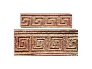 Клинкерная плитка фасадная Элемент декоративный Арго Мини Терракот Рядовая 70x240 толщина