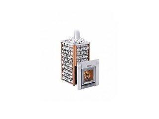Печь банная Ермак 16-Сетка-Премиум (с панорамным стеклом) (сталь 8мм)