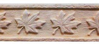 Клинкерная плитка фасадная Элемент декоративный Лист клена Мини Терракот Рядовая 70x240 толщина