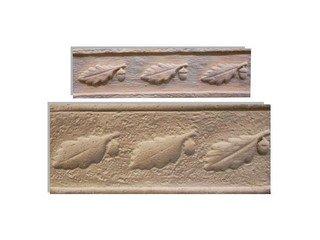 Клинкерная плитка фасадная- Элемент декоративный Дубок Макси Терракот Рядовая 123x263 толщина