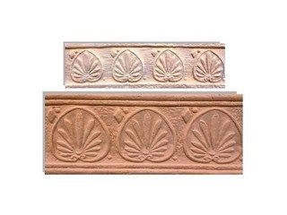 Клинкерная плитка фасадная Элемент декоративный Родос Мини Терракот Рядовая 70x240 толщина