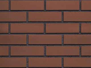 Клинкерная плитка фасадная Röben BRAUN коричневая гладкая NF9