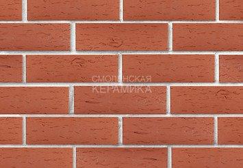 Клинкер фасадный ЛСР «Лондон» красный береста 2