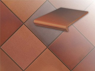 Плитка для цоколя Stroher 316 patrizierrot ofenbunt 10 мм