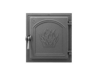Дверца каминная Везувий 271, (350х320) 280х250, без стекла (Антрацит)