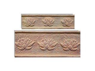 Клинкерная плитка фасадная- Элемент декоративный Лотос Макси Терракот Рядовая 123x263 толщина