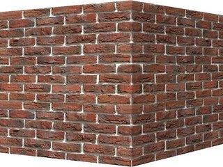 "305-75 White Hills ""Бремен брик"" (Bremen brick), красный, угловой, Нормативная ширина шва 1,2 см."