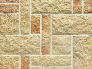Клинкерная плитка фасадная- Рваный камень разноцвет Хаос Терракот Рядовая x толщина