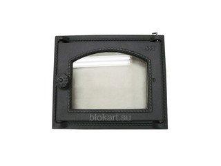 Дверца топочная со стеклом 451 SVT, (285х345) 250х300 (фин)