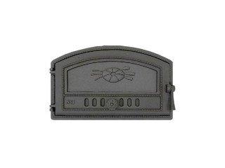 Дверца хлебной печи 422 SVT, (225/290х470) 180/230х410, гермет. сплошн. правая