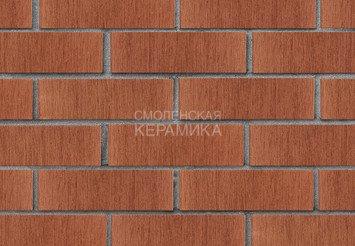 Кирпич лицевой керамический ЛСР Темно-красный тростник, 1НФ 2