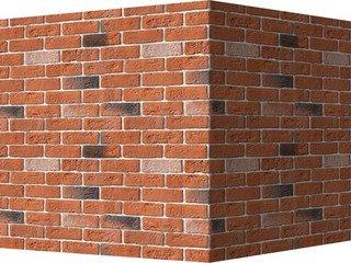 "320-55 White Hills ""Кельн брик"" (Cologne brick), оранжевый, угловой, Нормативная ширина шва 1,2 см."