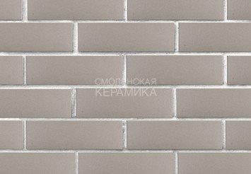 Кирпич лицевой керамический ЛСР Серый гладкий, 1НФ 3