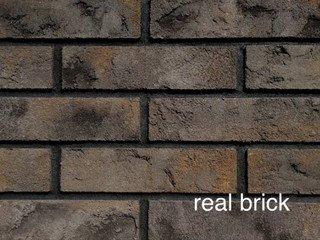 REAL BRICK. Кирпич ручной формовки RB КР/0,5ПФ угловой RB 07 пепел