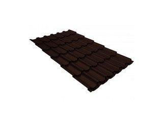 Металлочерепица Grand Line Classic Quarzit шоколад