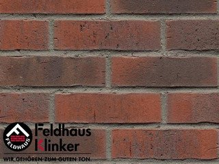 Плитка под кирпич Feldhaus Klinker R743NF14 vascu carmesi flores