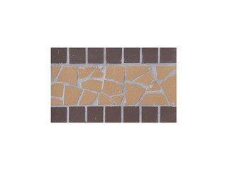 Подступенник мозаичный из клинкера (на сетке) Star/Звезда Ecoclinker