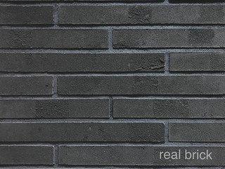 REAL BRICK. Кирпич ручной формовки RB КР/0,5ПФ РИГЕЛЬ RB 13 графитовый