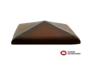 Колпак для забора ZG Clinker клинкерный керамический 425х425 ольха