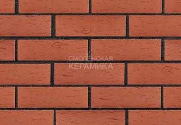 Клинкер фасадный ЛСР «Лондон» красный береста 4