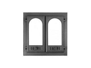 """Дверца каминная ДК-8С (600х600х122) 500х500х65, под стекло, двухстворчатая """"Горница-2"""" (Рубцовск),"""