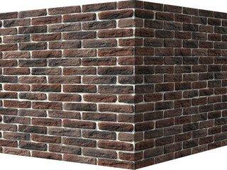 "316-45 White Hills ""Брюгге брик"" (Brugge brick), темно-коричневый, угловой, Нормативная ширина шва 1"