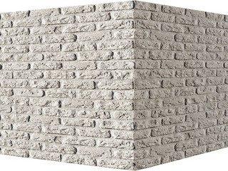 "315-05 White Hills ""Брюгге брик"" (Brugge brick), белый, угловой, Нормативная ширина шва 1,2 см."