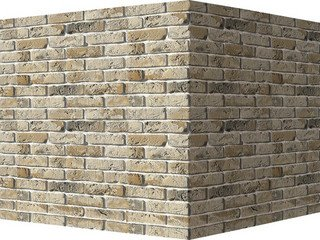"304-15 White Hills ""Лондон брик"" (London brick), б/ц, угловой, Нормативная ширина шва 1,2 см."