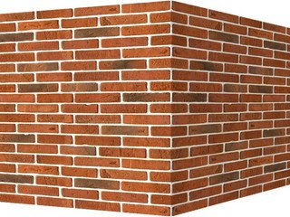 "335-75 White Hills ""Йорк брик"" (York brick), красный, угловой, Нормативная ширина шва 1 см."
