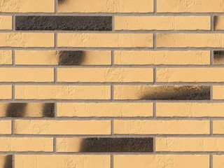Клинкерная плитка фасадная ABC Klinker Gelb Kohlebrand Schieferstruktur LF