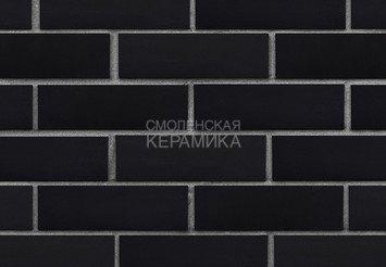 Клинкер фасадный ЛСР «Рейкьявик» черный гладкий матовый 1