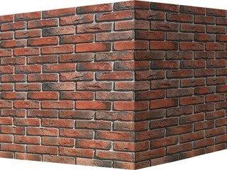 "300-75 White Hills ""Лондон брик"" (London brick), красный, угловой, Нормативная ширина шва 1,2 см."