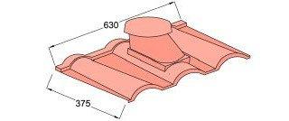 Вентилятор санитарный ( и Вентилятор Подкр. Пространства) Decra Roman средиземноморская терракота