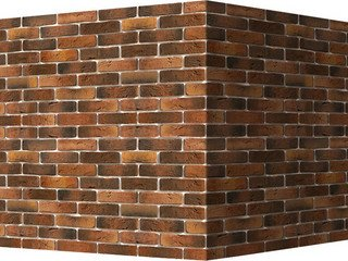 "303-75 White Hills ""Лондон брик"" (London brick), коричнево-медный, угловой, Нормативная ширина шва 1"