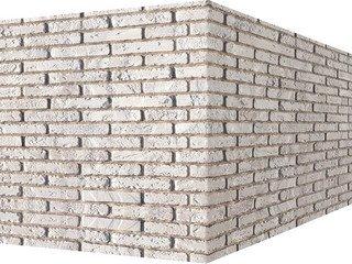 "335-05 White Hills ""Йорк брик"" (York brick), серый, угловой, Нормативная ширина шва 1 см."