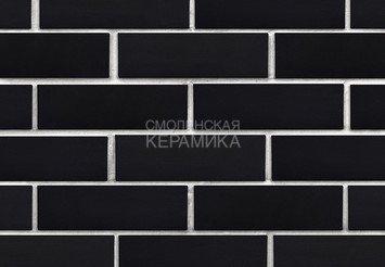 Клинкер фасадный ЛСР «Рейкьявик» черный гладкий матовый 2