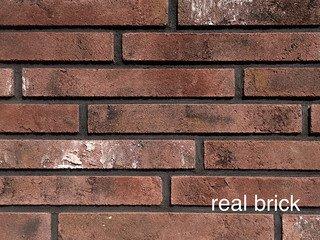 REAL BRICK. Ригельный кирпич RB 1-04 Бордовый Плитка: 300*40*15 0,7(45шт)